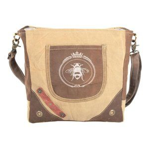 BEE ZIPPERED shoulder bag